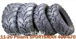 11-20 Polaris SPORTSMAN 400 570 ATV Tire Set WANDA 25x8-12 25x10-12 lit Mud