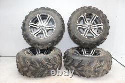 17-20 Polaris Sportsman 850 Xp Front Wheels Rims W Tires
