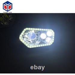 1 pair Chrome LED Replacement Headlight Kit For Polaris Sportsman Ranger Models