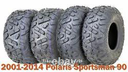 2001-2014 Polaris Sportsman 90 Full Set tires 19x7-8 & 18x9.5-8 Big Horn Style