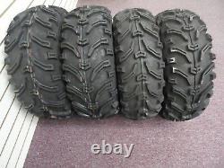 2002-2014 Polaris Sportsman 400 Bear Claw 25 Atv Tires Set 4 25x8-12 25x10-12