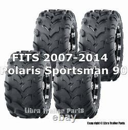 2007-2014 Polaris Sportsman 90 Full Set tires 19x7-8 19x7x8 & 18x9.5-8 18x9.5x8