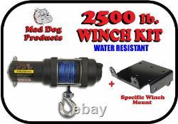 2500lb Mad Dog Synthetic Winch/Mount Kit 2011-2021 Polaris Sportsman 500 / 570