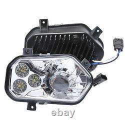 2PCS ATV LED Headlights High Low Beam for Polaris Sportsman RZR XP 900 800 570