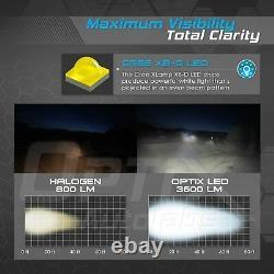 2Pcs Black LED Headlight Kit High/Low Beam for Polaris Sportsman Ranger RZR XP