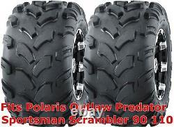2 ATV tires 18x9.5-8 Polaris Outlaw Predator Sportsman Scrambler 90 110 Rear P31