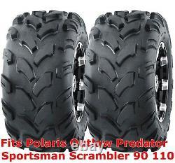 2 ATV tires 19x7-8 Polaris Outlaw Predator Sportsman Scrambler 90 110 front P311