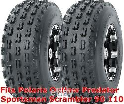 2 ATV tires 19x7-8 Polaris Outlaw Predator Sportsman Scrambler 90 110 front P327