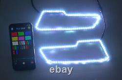 2pcs LED Headlight RGB Halo Ring Lights For Polaris RZR 2017+ Sportsman 850/1000