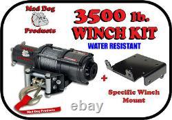 3500lb Mad Dog Winch Mount Combo Polaris-ATV 2004 Sportsman 400 500 600 700