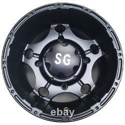 4 12 ATV RIMs WHEELs for Polaris Sportsman X2 500 550 12x7 4/156 4+3 5-Star