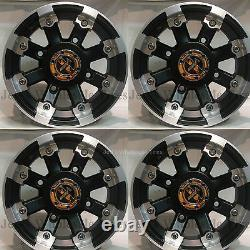 4 12 Rims Wheels for 2002-2008 Polaris Sportsman 700 IRS typ 393 MBML Aluminum