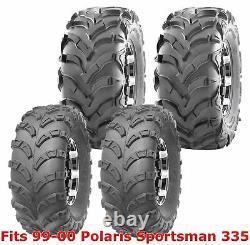 99-00 Polaris Sportsman 335 Full Set WANDA ATV tires 23x7-10 & 24x11-10 6PR
