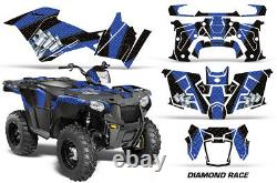 ATV Graphics Kit Decal Quad Wrap For Polaris Sportsman 570 2014-2017 DRACE U K