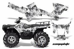 ATV Graphics Kit Decal Sticker Wrap For Polaris Sportsman 500/800 05-10 CAMO WHT