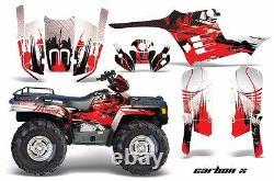 ATV Graphics Kit Decal Wrap For Polaris Sportsman 400 500 1995-2004 CARBONX RED