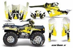 ATV Graphics Kit Decal Wrap For Polaris Sportsman 400 500 1995-2004 CARBONX YLLW