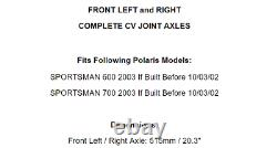 Front Left And Right Complete CV Joint Axles for Polaris Sportsman 600 700 2003