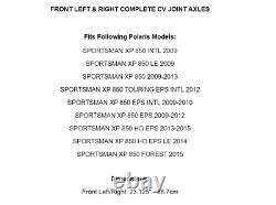 Front Right And Left CV Joint Axles for Polaris Sportsman XP 850 2009-2015