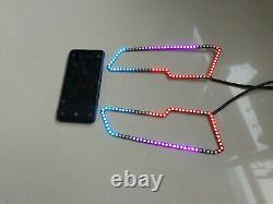 LED Headlight LED Halo for Polaris Sportsman XP 850 1000 Color Chasing Bluetooth