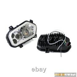 LED Headlight with Halo Ring For Polaris Sportsman RZR 400 450 500 570 800 900 XP4