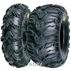 New Mud Rebel Atv Tire Set 2 Front 25x8-12 And 2 Rear 25x10-12 Polaris Sportsman