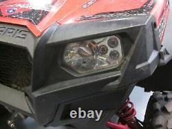 Polaris Scrambler RZR Sportsman Ranger LED Chrome Headlight Kit (Pair)