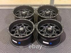 Polaris Sportsman 450 12 Itp Hurricane Aluminum Atv Wheels (set 4) Pol3ca