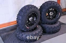 Polaris Sportsman 450 25 Bear Claw Atv Tire & Cobra Blk Wheel Kit Pol3ca