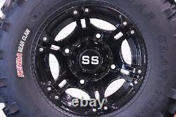 Polaris Sportsman 450 25 Bear Claw Atv Tire & Viper Black Wheel Kit Pol3ca