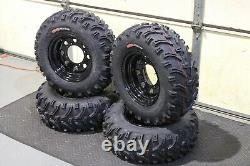 Polaris Sportsman 450 25 Kenda Bear Claw Atv Tire Itp Black Atv Wheel Kit Pold