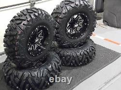 Polaris Sportsman 450 25 Quadking Atv Tire & Sti Hd4 Wheel Kit Pol3ca Bigghorn