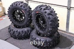 Polaris Sportsman 450 25 XL Bear Claw Atv Tire & Sti Hd4 Wheel Kit Pol3ca