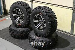 Polaris Sportsman 500 25 Bear Claw Atv Tire & Viper M/b Wheel Kit Pol3ca