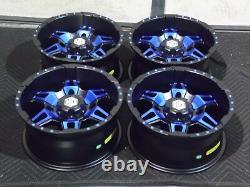 Polaris Sportsman 570 14 Hd7 Blue Atv Wheels (set 4) Lifetime Warranty Pol3ca