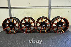 Polaris Sportsman 570 14 Sti Hd6 Orange Atv Wheels (set 4) Life Warranty Pol3ca