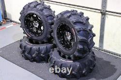 Polaris Sportsman 570 25 Executioner Atv Tire & Cobra Blk Wheel Kit Pol3ca