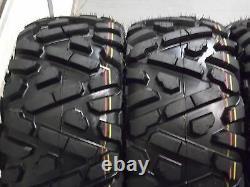 Polaris Sportsman 570 25 Quadking Atv Tire & Hd3 Blk Wheel Kit Pol3ca Bigghorn