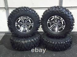 Polaris Sportsman 570 25 Quadking Atv Tire & Viper M/b Wheel Kit Pol3ca Bighorn