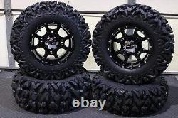 Polaris Sportsman 570 25 Rip Saw R/t Atv Tire & Cobra Blk Wheel Kit Pol3ca