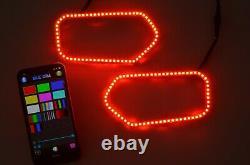 RGB LED Halo Ring Kits for RZR 900 Sportsman Polaris 2011+ 450 500 570 800 1000