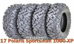Set 4 ATV UTV Tires 26x8-14 & 26x10-14 for 17 Polaris Sportsman 1000 XP