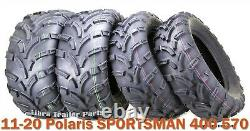 11-20 Polaris Sportsman 400 570 Atv Tire Set Wanda 25x8-12 25x10-12 Lumière Mud
