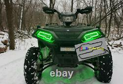 2017+ Polaris 2021 Sportsman 450 570 850 1000 Bagues Halo Led Headlight Kit