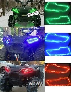2021 Polaris Sportsman 450 570 850 1000 Royaume Led Halo Ring Pour Le Kit Led Headlight