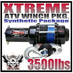 3500lb Xtreme Atv Winch Polaris Sportsman 2009-20 450 550 & 850 Xp