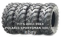 4 Pneus Wanda Atv/utv 25x8-12 25x10-12 Pour 2002-2014 Polaris Sportsman 400/700