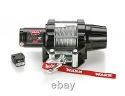 Avertissez 101025 Vrx 25 Powersports Winch Avec Une Capacité De 2500 Lb Et 50 Ft Steel Rope