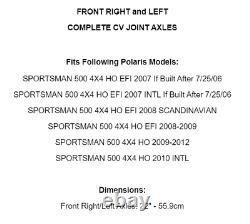 Essieux Communs CV Avant Droit Et Gauche Pour Polaris Sportsman 500 4x4 Ho Efi 07-12