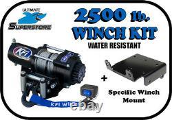 Kfi 2500 Lb Treuil Mont Kit'09-'21 Polaris Sportsman 570 / 800 / 850 / 1000